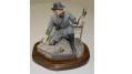 "HAND PAINTED LIMITED EDITION COLD CAST BRONZE SCULPTURE OF NATHAN BEDFORD FORREST ENTITLED ""THE DECISION MAKER"", BY RON TUNISON"