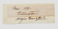 CLIPPED SIGNATURE OF MAJOR GENERAL FRANK WHEATON
