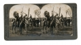 STEREOVIEW OF SIOUX INDIANS ON PONIES