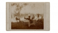 CABINET CARD OF G.A.R. VETERANS HAVING A PICNIC