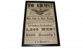 """TO ARMS!"" 126TH NEW YORK REGIMENTAL [YATES COUNTY] BROADSIDE"