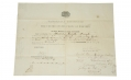 1857 U.S. MARINE DISCHARGE FOR PRIVATE THOMAS READE - SIGNED BY COMMANDANT ARCHIBALD HENDERSON