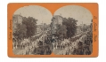 STEREO CARD OF 129TH PA. VOLS. AT G.A.R. PARADE