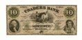 STATE OF VIRGINIA TRADERS BANK, RICHMOND, VA $10 NOTE