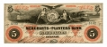 STATE OF GEORGIA MERCHANTS AND PLANTERS BANK $5 NOTE