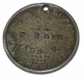 ID TAG FOR SOLDIER IN THE 29TH MASSACHUSETTS INFANTRY