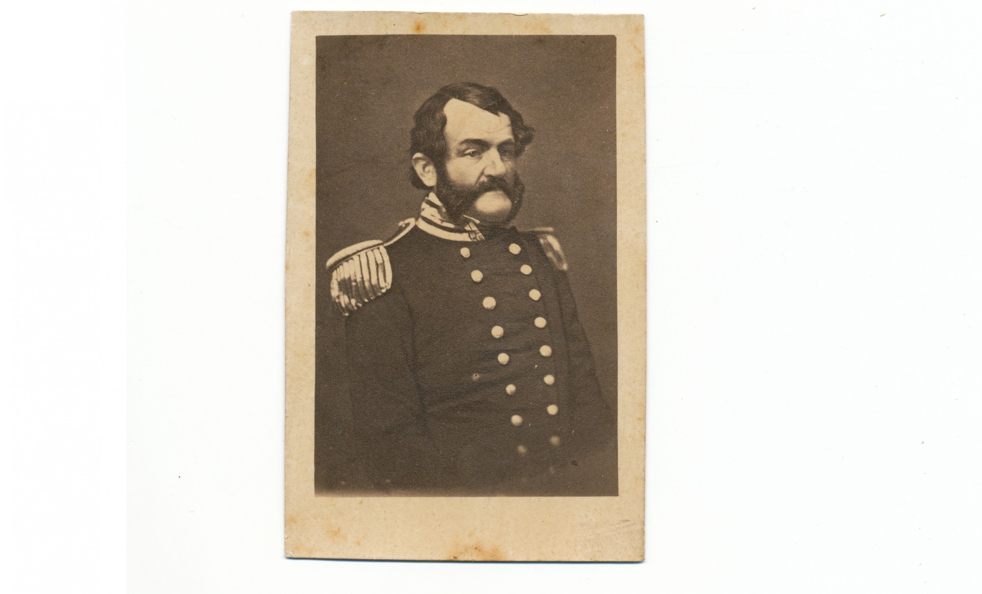 CDV OF CONFEDERATE COMMODORE GEORGE N. HOLLINS