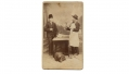 CDV BUTCHER AND HIS CUSTOMER