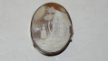 VINTAGE CAMEO PILL BOX LID