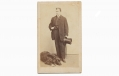 CDV MAN WITH TOP HAT, AND DOG