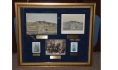FRAMED WATERCOLOR OF 153RD PENNSYLVANIA CAMP SCENE