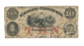 MERCHANTS AND PLANTERS BANK, SAVANNAH, GEORGIA, $10 NOTE