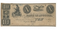 BANK OF AUGUSTA, AUGUSTA, GEORGIA, $10 NOTE