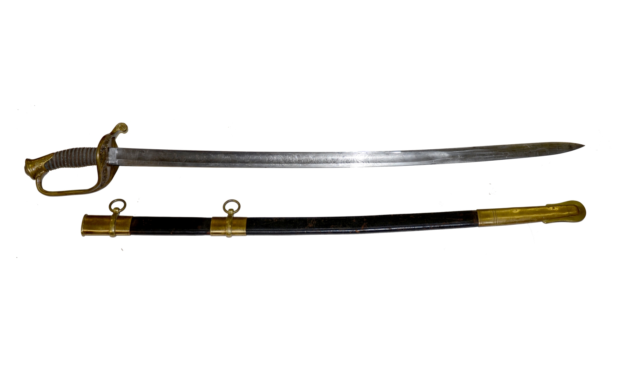 MODEL 1850 ARMY FOOT OFFICER'S SWORD OWNED BY CAPTAIN JOHN L. BROOME, UNITED STATES MARINE CORPS