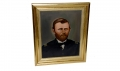 LATE NINTEENTH CENTURY OIL ON CANVAS PORTRAIT OF GENERAL U. S. GRANT