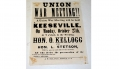ESSEX COUNTY, NEW YORK BROADSIDE - UNION WAR MEETING!!