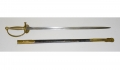 SHORTENED MODEL 1840 PATTERN UNITED STATES MARINE CORPS NCO SWORD BY HORSTMANN WITH UNALTERED SCABBARD