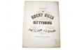 THE ROCKY HILLS OF GETTYSBURG - SHEET MUSIC