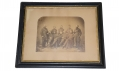 FRAMED, LARGE ALBUMEN GROUP PHOTOGRAPH OF NINE FEDERAL OFFICERS BELIEVED TO BE ARMY PAYMASTERS