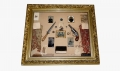 FANTASTIC FRAMED COLLECTION OF ARTIFACTS IDENTIFIED TO TWO BROTHERS WHO SERVED IN THE 16TH MASSACHUSETTS INFANTRY