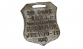 METAL WATCH FOB FOR 2ND NEW JERSEY NATIONAL GUARD - GETTYSBURG MANEUVERS 1910