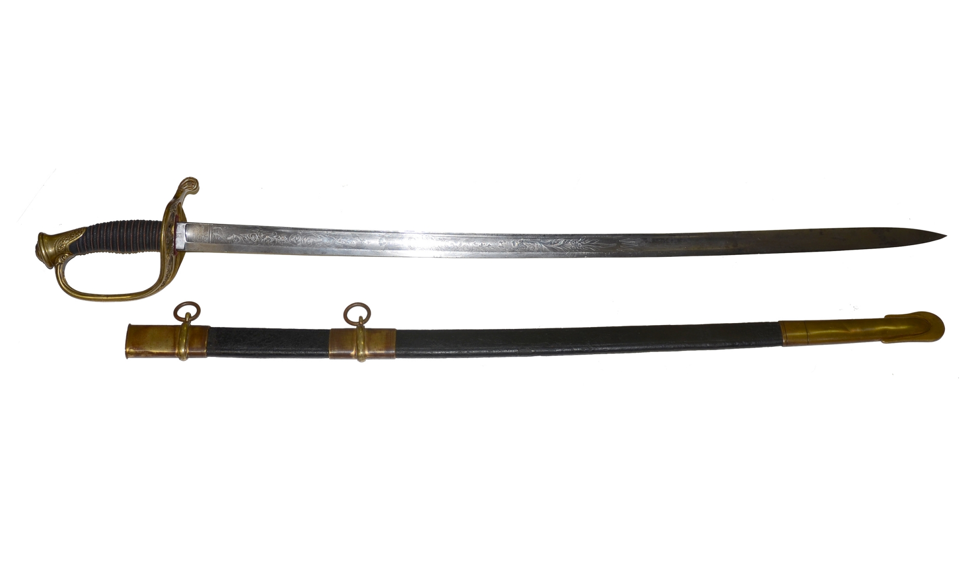 HORSTMANN M-1850 FOOT OFFICER'S SWORD WITH SCABBARD