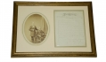 FRAMED BRADY PHOTOGRAPH & LETTER OF GENERAL JAMES LONGSTREET WITH POST MASTER JOHN M.G. PARKER