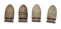 GROUP OF FOUR DROPPED WILLIAMS CLEANER TYPE II BULLETS RECOVERED FROM GETTYSBURG