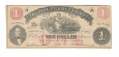 1862 VIRGINIA $1 NOTE FEATURING MILK MAID & GOVERNOR LETCHER