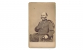 CDV THREE QUARTER SEATED VIEW OF MAJOR GENERAL AMBROSE BURNSIDE