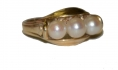 14K GOLD RING WITH PEARLS