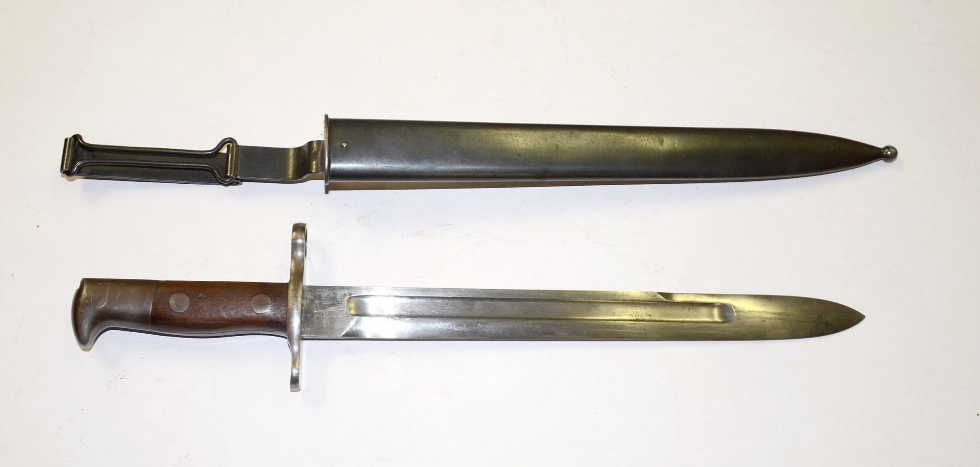 M1898 U S Krag Jorgensen Bayonet Dated 1898 With U S
