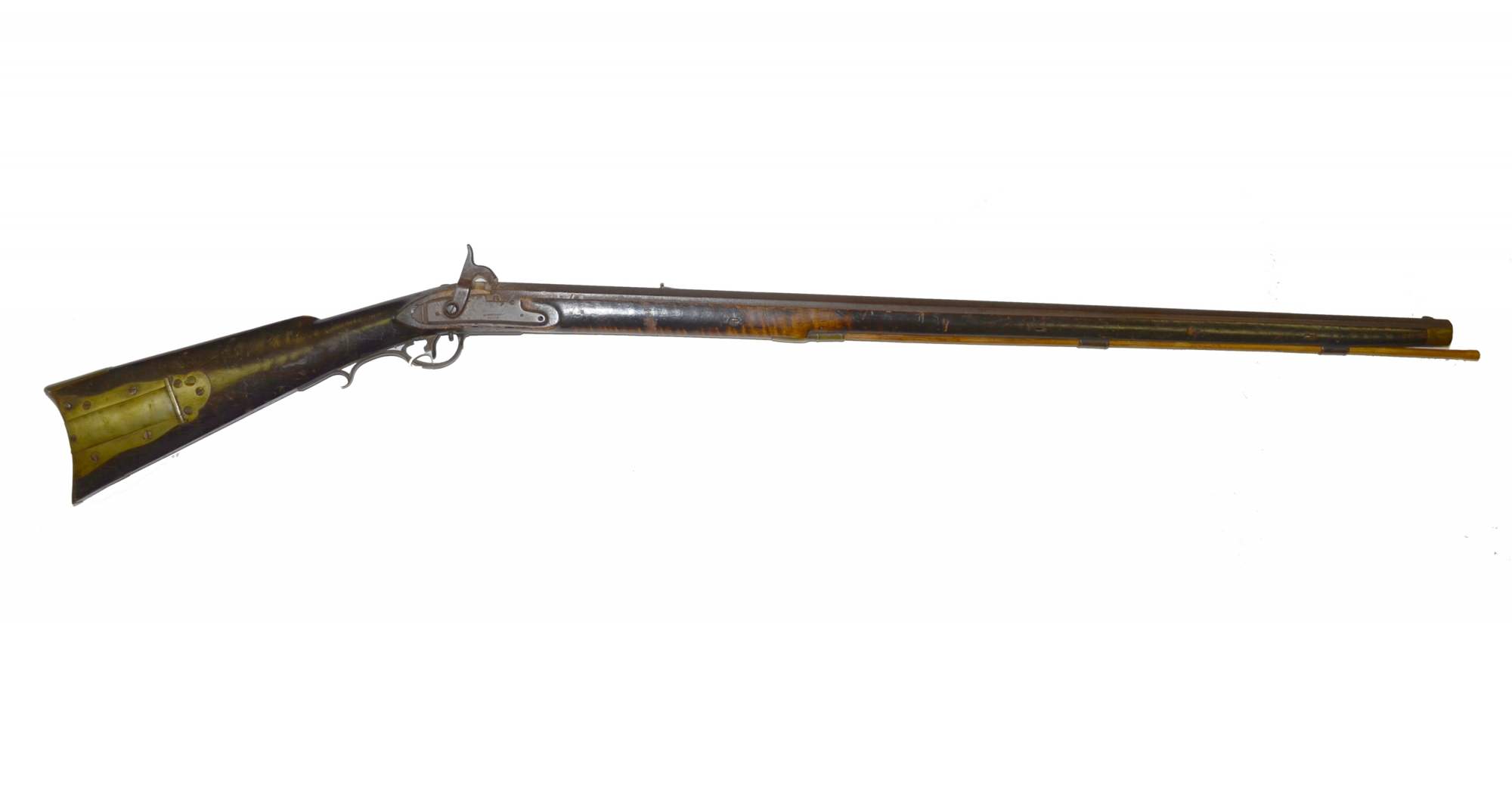 DERINGER MILITARY FLINTLOCK RIFLE CONVERTED TO PERCUSSION