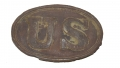 US M1839 CARTRIDGE BOX PLATE FROM THE GETTYSBURG ROSENSTEEL COLLECTION