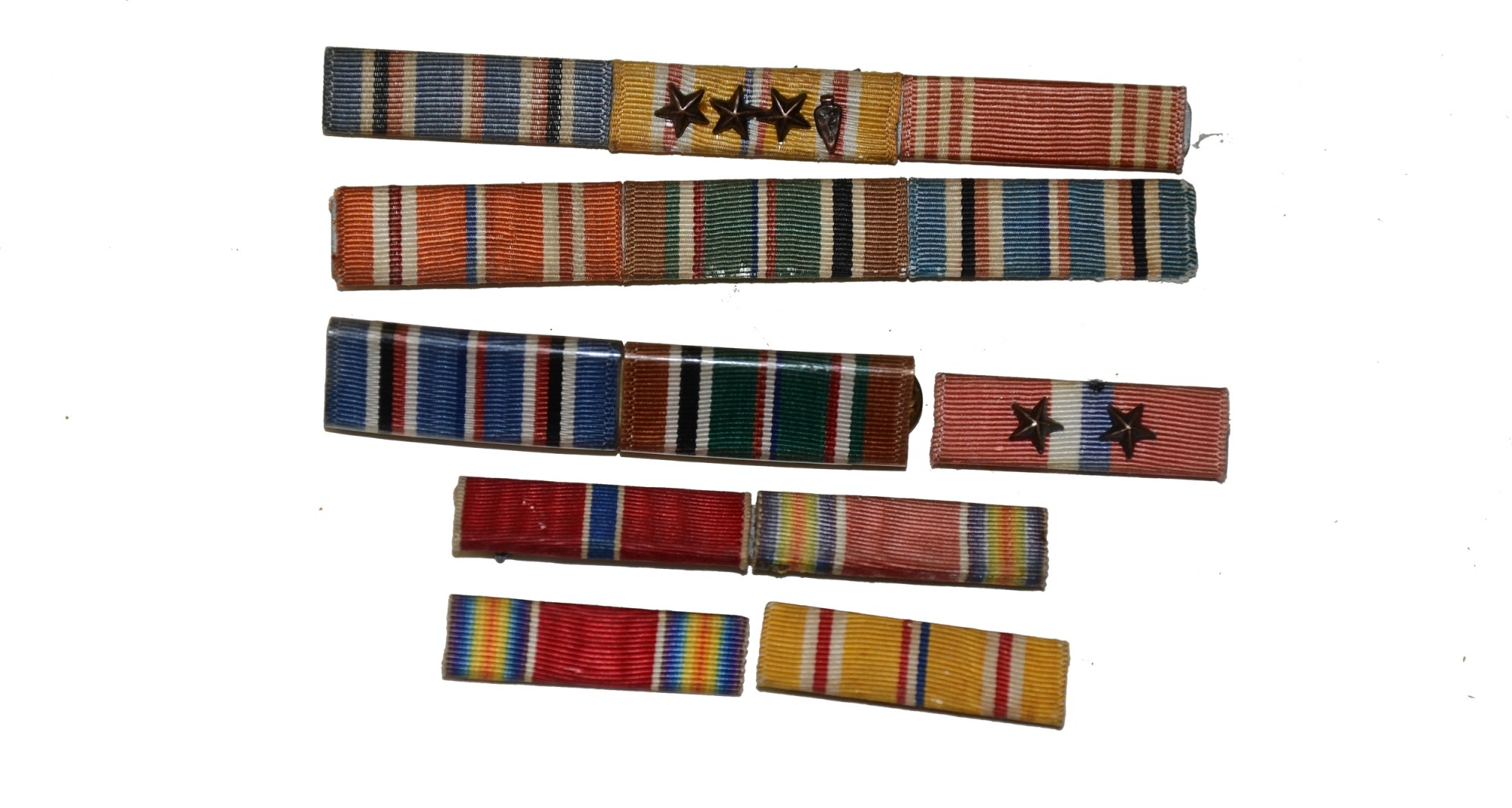 LOT OF WORLD WAR II RIBBON BARS