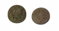 TWO US GENERAL SERVICE EAGLE CUFF BUTTONS  FROM THE ROSENSTEEL FAMILY COLLECTION, GETTYSBURG