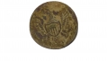 US GENERAL SERVICE EAGLE JACKET BUTTON RECOVERED AT THE ROSE FARM, GETTYSBURG
