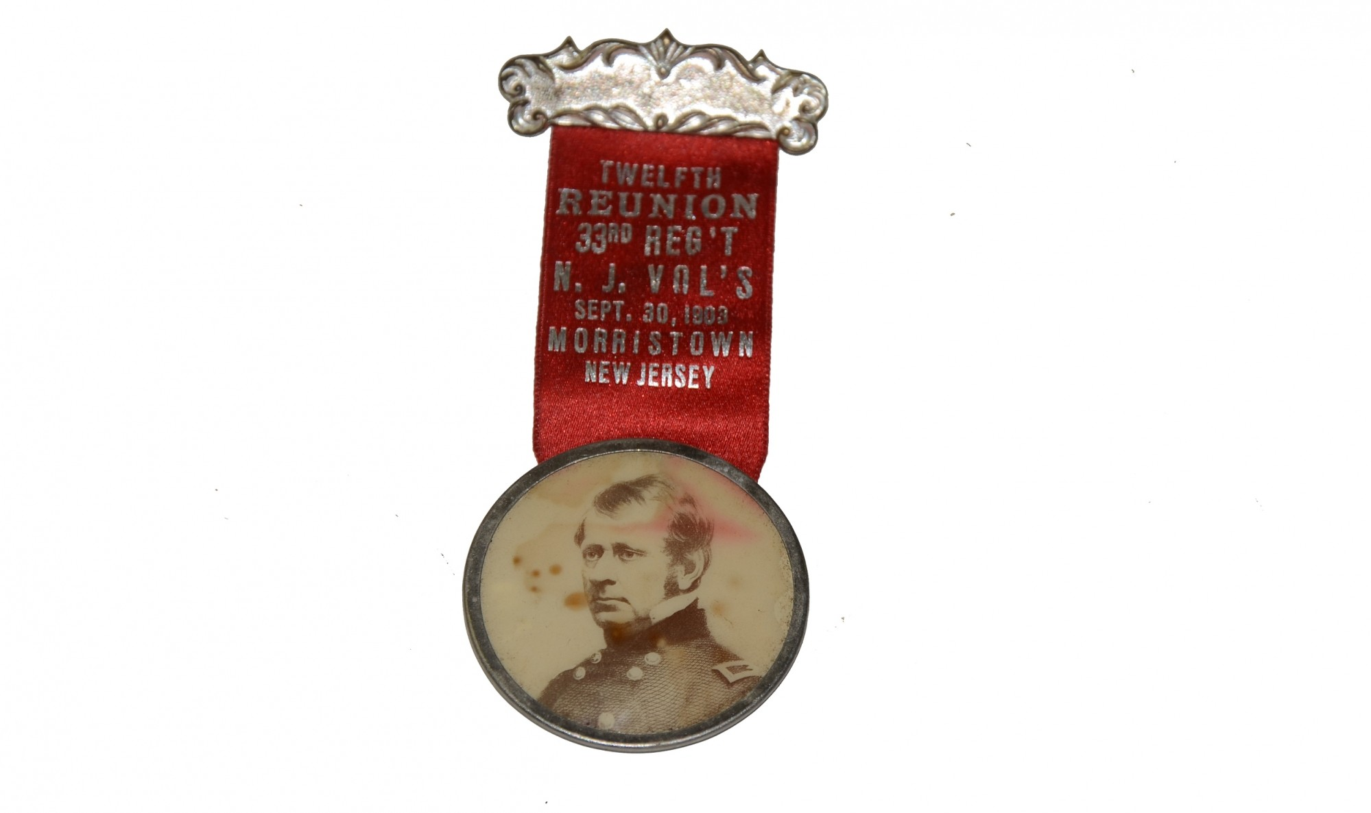 1903 REUNION BADGE FOR THE 33RD NEW JERSEY