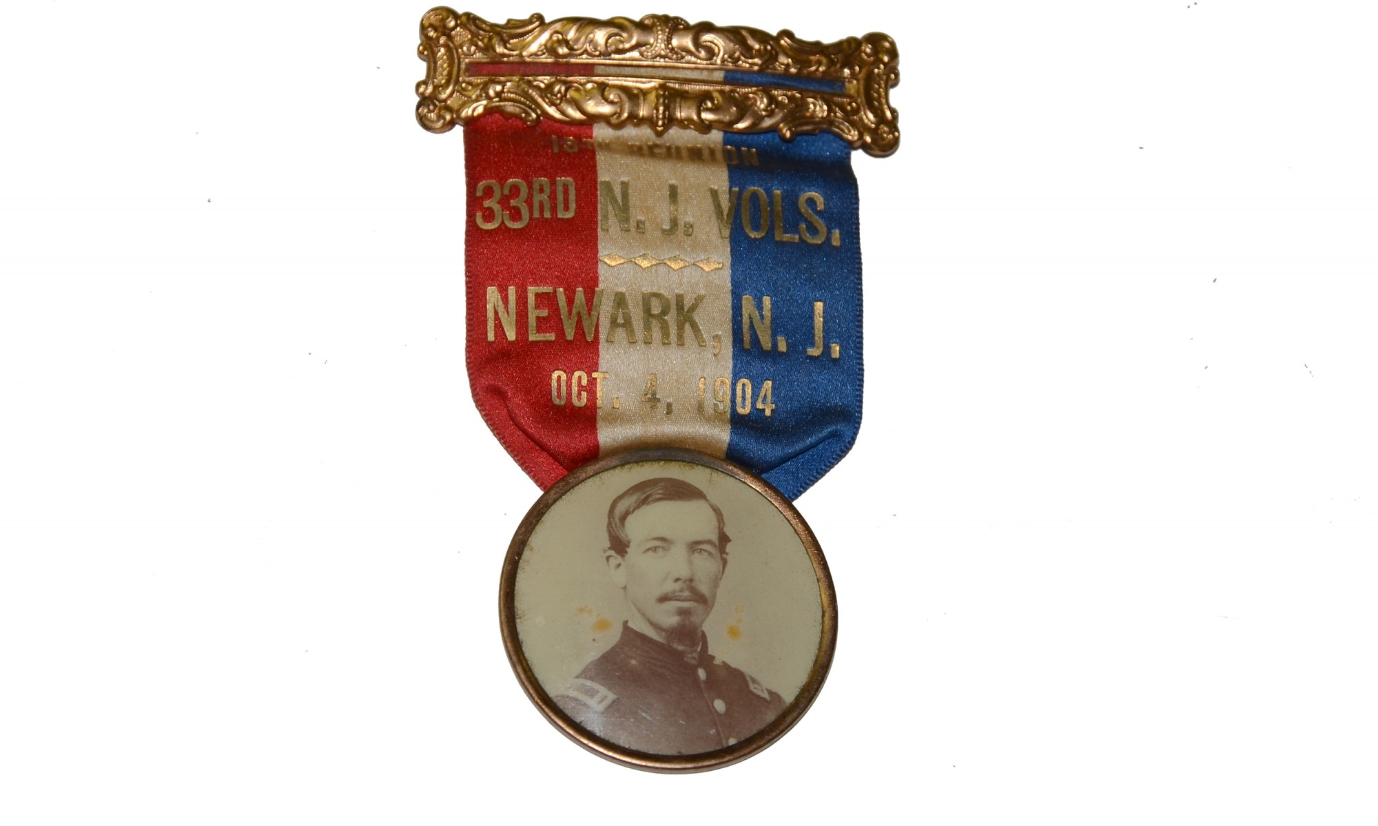 1904 REUNION BADGE FOR THE 33RD NEW JERSEY