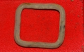 US/CS BRASS HARNESS BUCKLE, RECOVERED NEAR WILLOUGHBY RUN – GETTYSBURG
