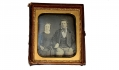 VERY NICE SIXTH PLATE DAGUERREOTYPE OF A HANDSOME YOUNG COUPLE