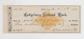 CHECK FROM GETTYSBURG RESIDENT DAVID KENDLEHEART TO DR. J. WILLIAM O'NEAL