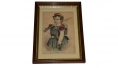 "FRAMED CURRIER AND IVES PRINT ""THE LITTLE VOLUNTEER"""