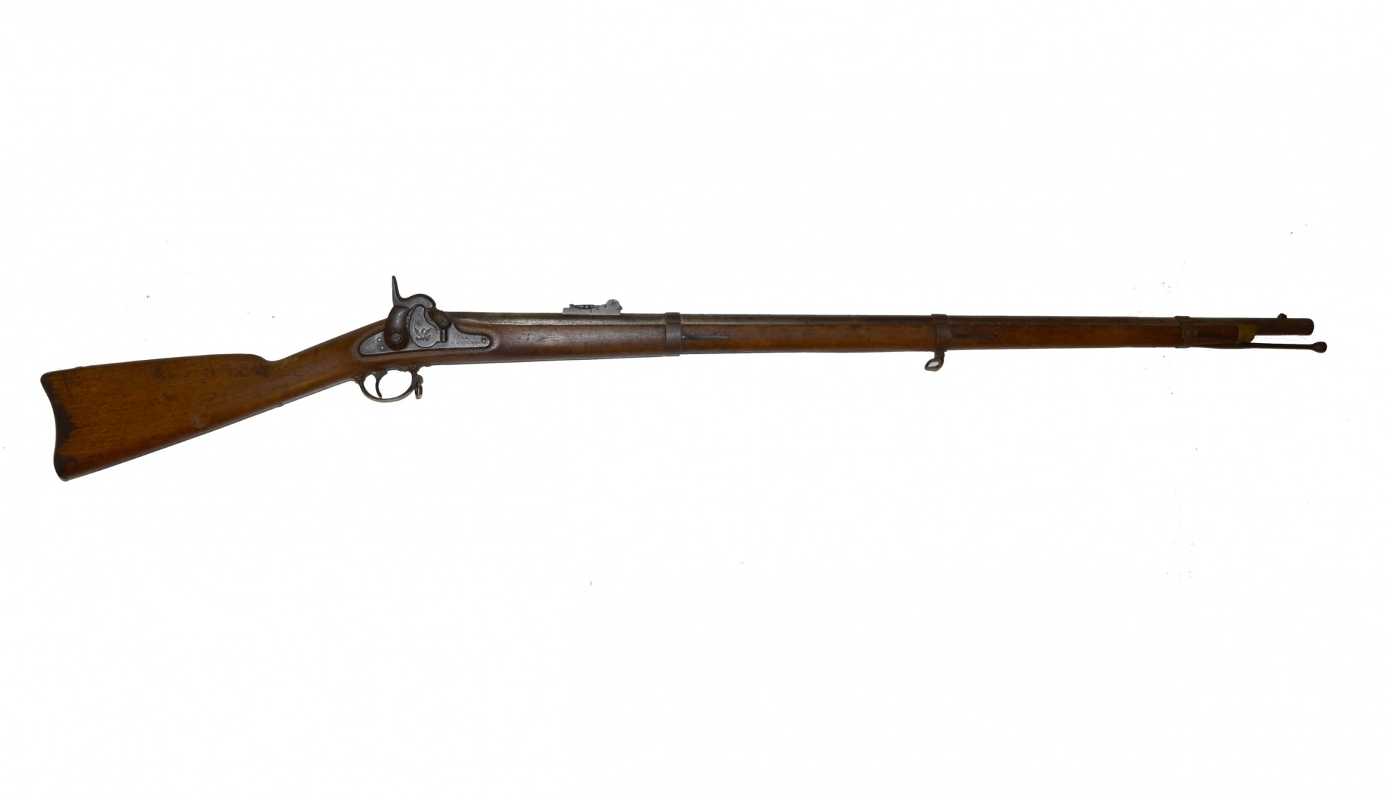 SPRINGFIELD M1855 PERCUSSION RIFLE-MUSKET, DATED 1858
