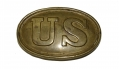 US DRAGOON BELT PLATE 1839 PATTERN WITH LEATHER WASHER