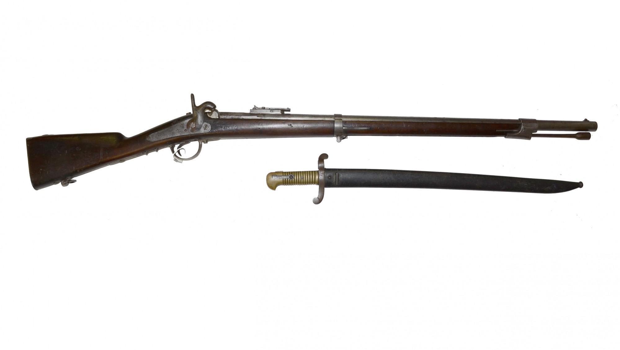 """FRENCH MODEL 1853 RIFLE MADE BY """"T  TILKEN"""" IN LIEGE WITH"""