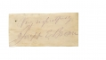 AUTOGRAPH OF GOVERNOR JOSEPH EMERSON BROWN