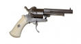 7MM PINFIRE DOUBLE-ACTION REVOLVER WITH IVORY GRIPS