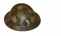 WORLD WAR ONE CAMMO PAINTED 29TH DIVISION HELMET