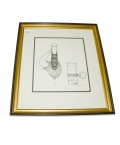 FRAMED C. J. PUGLIESE SWORD & SCABBARD ENGRAVING
